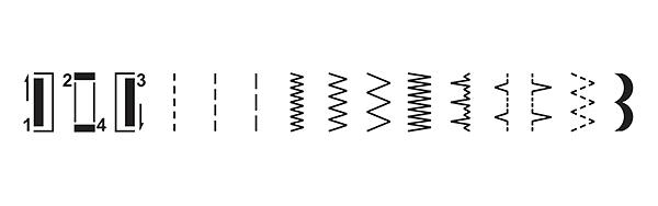 Строчки швейной машины Singer M2105