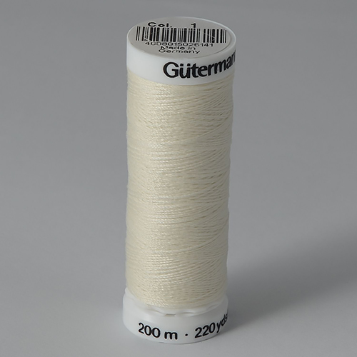 Нитки Gutermann SewAll №100 200м цвет 001