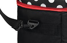 Сумка для швейной машины, черная в белый горох - Фото №2